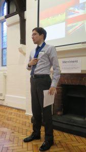 Florian's final speech before being awarded Advanced Communication Gold