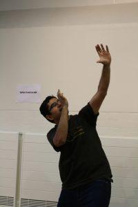 Pranav delivering his icebreaker speech
