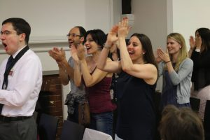 Toastmasters give rapturous applause